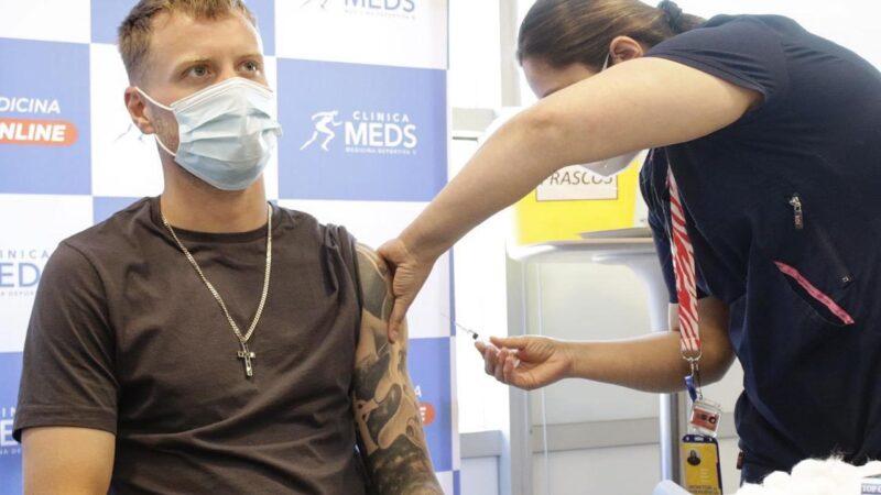 Jugadores de la Universidad de Chile recibieron primera dosis contra el coronavirus